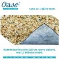 Kamínková fólie šíře 120 cm, barva písková, cena za 1 běžný metr