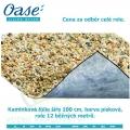 Kamínková fólie šíře 100 cm, barva písková, cena 786 Kč za 1 běžný metr při odběru celé role 12 m