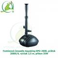 Fontánové čerpadlo Aquaking SPG-2000, průtok 2000l/h, výtlak 2,5 m, příkon 35W - Výprodej
