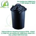 Tlaková filtrace Aquaking Pressure PF30,  včetně 11 Watt UV, pro jezírka do 13000 litrů, obsah 30 l, max. průtok 4500 litrů/hod. - Výprodej