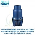 Tubusové čerpadlo Aqua Forte HF-22000, max. průtok 22000 l/h, výtlak 3 m, příkon 175W, vnitřní průměr hrdla 75 mm - Výprodej