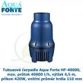 Tubusové čerpadlo Aqua Forte HF-40000, max. průtok 40000 l/h, výtlak 4,5 m, příkon 420W, vnitřní průměr hrdla 110 mm - Výprodej