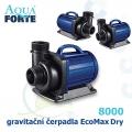 Gravitační čerpadlo Aqua Forte EcoMax Dry DM 8000, max. průtok 8000 l/h, výtlak 4,5 m, příkon 70W