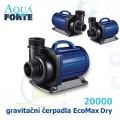 Gravitační čerpadlo Aqua Forte EcoMax Dry DM 20000, max. průtok 19000 l/h, výtlak 7 m, příkon 200W