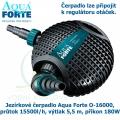 Jezírkové čerpadlo Aqua Forte O-16000, průtok 15500l/h, výtlak 5,5 m, příkon 180W - Výprodej