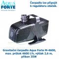 Gravitační čerpadlo Aqua Forte M-4600, max. průtok 4600 l/h, výtlak 2,6 m, příkon 35W - Výprodej