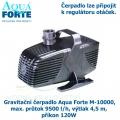 Gravitační čerpadlo Aqua Forte M-10000, max. průtok 9500 l/h, výtlak 4,5 m, příkon 120W - Výprodej