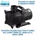 Gravitační čerpadlo Aqua Forte P-15000, max. průtok 15000 l/h, výtlak 6,5 m, příkon 290W - Výprodej