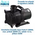 Gravitační čerpadlo Aqua Forte P-20000, max. průtok 20000 l/h, výtlak 7,5 m, příkon 420W - Výprodej