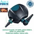 Jezírkové čerpadlo Aqua Forte O 12V-6500, průtok 6500l/h, výtlak 4 m, příkon 50W, vhodné do skimmeru Biosys