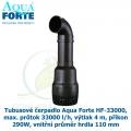 Tubusové čerpadlo Aqua Forte HF-33000, max. průtok 33000 l/h, výtlak 4 m, příkon 290W, vnitřní průměr hrdla 110 mm