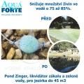 Pond Zinger, likvidátor zákalu a zelené vody, pro jezírka do 45 m3