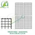 Filtrační deska - spojovatelná 34 x 20 x 1,5 cm