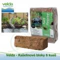 Peat Torf - Velda rašelinové a sázecí bloky 6 kusů, přirozené potlačení dlouhých řas a zelené vody