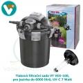 Tlaková filtrační sada VT VEX-100, pro jezírka do 6000 litrů, UV-C 7 Watt
