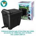 Průtoková filtrační sada VT Eco Filter Set 12000, pro jezírka do 12000 litrů, UV-C 18 Watt, max. průtok 2500 l/h, hadice