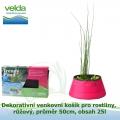 Dekorativní venkovní košík pro rostliny, růžový, průměr 50cm, obsah 25l - Velda Trendy Pond