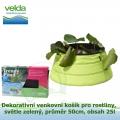 Dekorativní venkovní košík pro rostliny, světle zelený, průměr 50cm, obsah 25l - Velda Trendy Pond