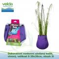 Dekorativní venkovní závěsný košík, vínový, velikost S 20x20cm, obsah 3l - Velda Water Bag Purple S