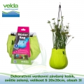 Dekorativní venkovní závěsný košík, světle zelený, velikost S 20x20cm, obsah 3l - Velda Water Bag Lime S