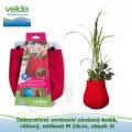 Dekorativní venkovní závěsný košík, růžový, velikost M 24cm, obsah 3l - Velda Water Bag Pink M