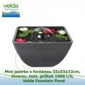 Mini jezírko s fontánou 55x55x32cm, čtverec, max. průtok 1000 l/h - Velda Fountain Pond