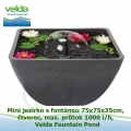 Mini jezírko s fontánou 75x75x35cm, čtverec, max. průtok 1000 l/h - Velda Fountain Pond