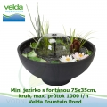 Mini jezírko s fontánou 75x35cm, kruh, max. průtok 1000 l/h - Velda Fountain Pond