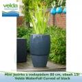 Mini jezírko svodopádem 80 cm, obsah 15l – Velda WaterFall Curved of black