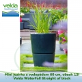 Mini jezírko svodopádem 60 cm, obsah 15l – Velda WaterFall Straight of black