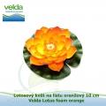 Lotosový květ na listu oranžový 10 cm - Velda Lotus foam orange