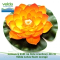 Lotosový květ na listu oranžový 28 cm - Velda Lotus foam orange