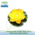 Lotosový květ na listu žlutý 10 cm - Velda Lotus foam yellow