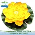 Lotosový květ na listu žlutý 28 cm - Velda Lotus foam yellow