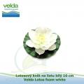 Lotosový květ na listu bílý 10 cm - Velda Lotus foam white