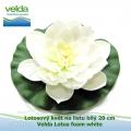 Lotosový květ na listu bílý 20 cm - Velda Lotus foam white