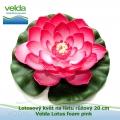 Lotosový květ na listu růžový 20 cm - Velda Lotus foam pink
