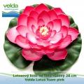 Lotosový květ na listu růžový 28 cm - Velda Lotus foam pink