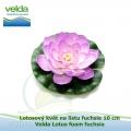 Lotosový květ na listu fuchsie 10 cm - Velda Lotus foam fuchsia