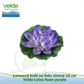 Lotosový květ na listu vínový 10 cm - Velda Lotus foam purple