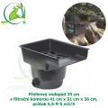 Přelivový vodopád 35 cm s filtrační komorou 41x51x36 cm, průtok 5,5-9-5 m3/h
