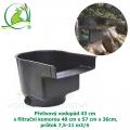 Přelivový vodopád 43 cm s filtrační komorou 48x57x36cm, průtok 7,5-11 m3/h