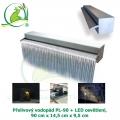 Přelivový nerez vodopád PL-90 + LED osvětlení, 90x14,5x9,5cm, doporučené čerpadlo 4500 l/hod.