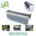 Přelivový nerez vodopád NW-120, 120x14,5x9,5cm, doporučené čerpadlo 8000 l/hod.