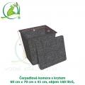 Čerpadlová komora s krytem 60x70x41 cm, 160 litrů,