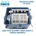 Aqua Forte drumfiltr s bílým krytem a ovládací jednotkou, max. průtok 25 m3/h