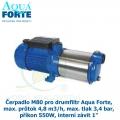 Čerpadlo M80 pro drumfiltr Aqua Forte, max. průtok 4,8 m3/h, max. tlak 3,4 bar, příkon 550W, interní závit 1