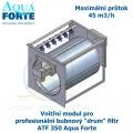 Vnitřní modul pro profesionální bubnový ,drum filtr, ATF 350 Aqua Forte, maximální průtok 45 m3/h