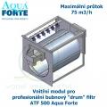 Vnitřní modul pro profesionální bubnový ,drum filtr, ATF 500 Aqua Forte , maximální průtok 75 m3/h