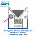 Průmyslová filtrační membrána pro UltraFleece 600 PG, šířka 60cm, délka 70m